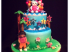 dora-meets-hello-kitty-cake